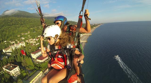 paragliding ve dvou