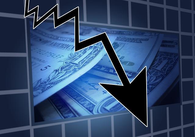 pokles financí