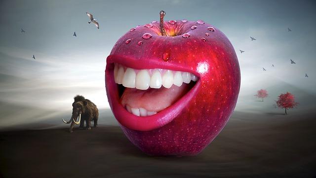 jablko se smíchem