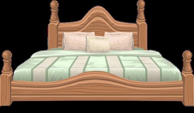 Drevená posteľ, vankúše.png