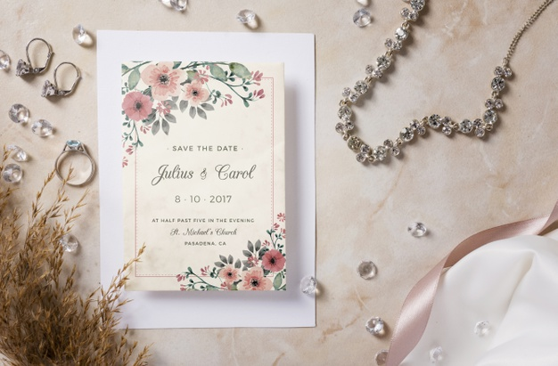 special-arrangement-wedding-elements-with-invitation-mock-up_23-2148502013